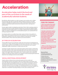Acceleration Tip Sheet Cover